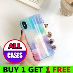 *NEW iPhone X/XS/7/8/Plus Rainbow Sky Case